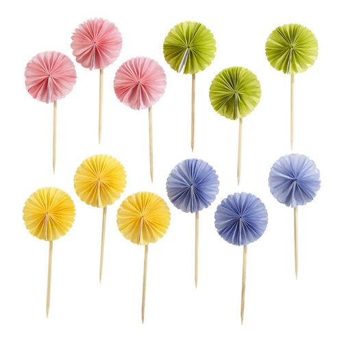 Spring Pom-Pom Food Picks _48-10001