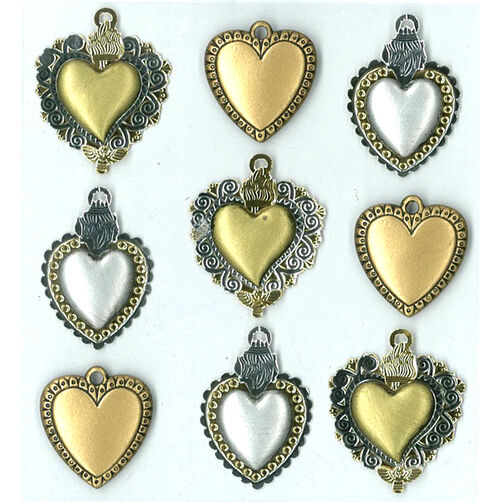 Metal Hearts Stickers_50-20405