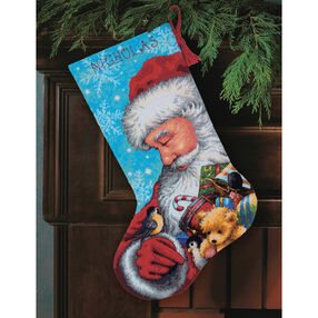Santa and Toys Stocking, Needlepoint_71-09145