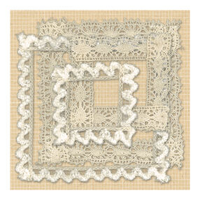 Handmade Lace Frame Fabric Art_30-387522