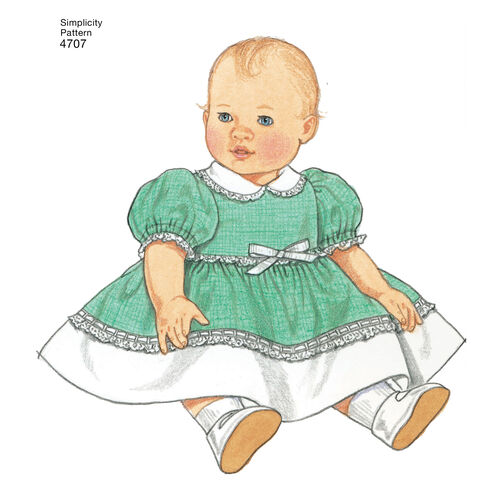 Pattern For 1950 S Vintage Baby Doll Clothes In 3 Sizes