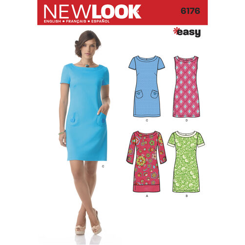 New Look Pattern 6176 Misses' Dress with Sleeve Variations