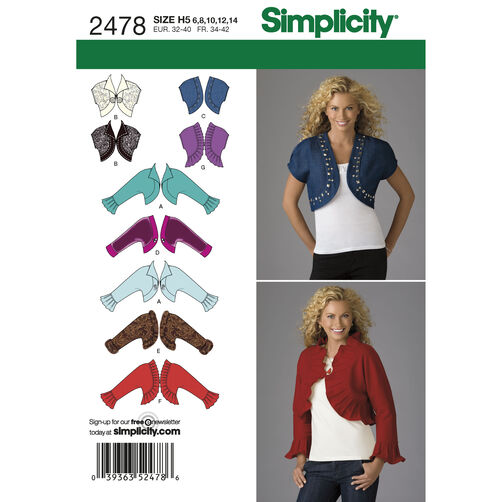 Simplicity Pattern 2478 Misses' Jackets