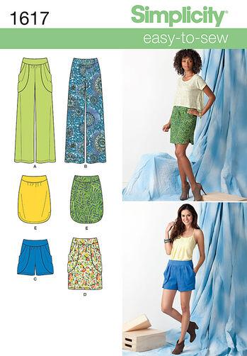 Misses' Skirt, Pants & Shorts