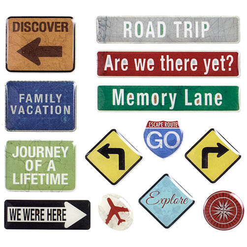 Tim Coffey Travel Road Sign Stickers _30-679474