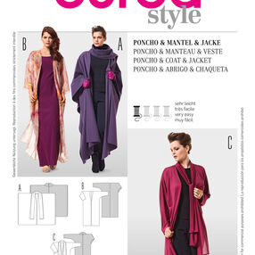 Burda Style Pattern 7167 Poncho & Coat & Jacket