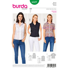 Burda Style Pattern B6527 Misses' Stand Collar Blouse