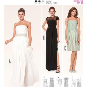 Burda Style Pattern 6940 Evening & Bridal Wear