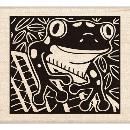Frog Wood Stamp_60-00965