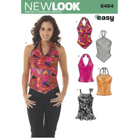 New Look Pattern 6464 Misses Tops