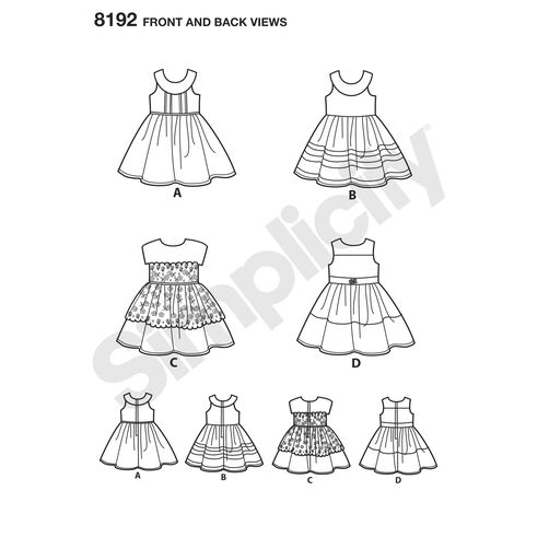 Pattern 8192 American Girl Doll Clothes for 18
