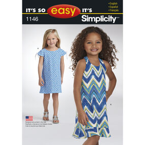 It's So Easy Pattern 1146 Child's Knit Dresses