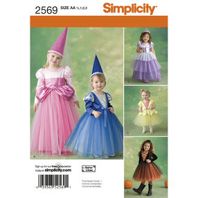 Simplicity Pattern 2569 Toddler & Child Costumes