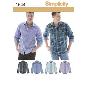 Simplicity Pattern 1544 Men's Shirt with Fabric Variations