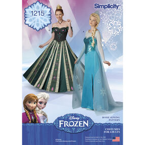 Simplicity Pattern 1215 Misses' Disney Frozen Costumes