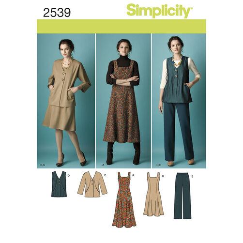 Simplicity Pattern 2539 Misses' & Plus Size Sportswear