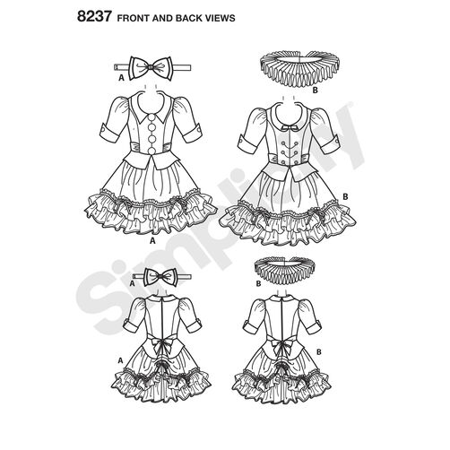 Simplicity Pattern 8237 Misses' Alice in Wonderland