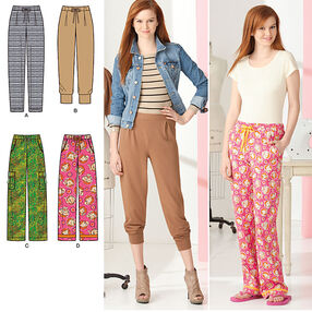 Simplicity Pattern 2061 Learn to Sew Misses' Knit and Woven Pants