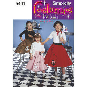 Simplicity Pattern 5401 Child's & Girls' Costume Skirts