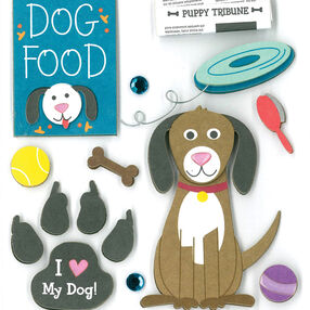 Doggy Love Dimensional Sticker _30-576995