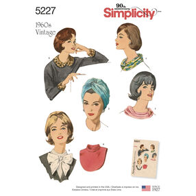 Simplicity Pattern 5227 Vintage Accessories