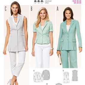 Burda Style Pattern 6801 Jackets, Coats, Vests