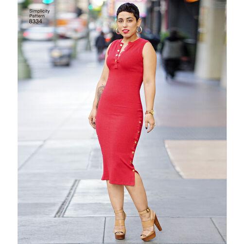 Simplicity Pattern 8334 Misses Knit Dress By Mimi G