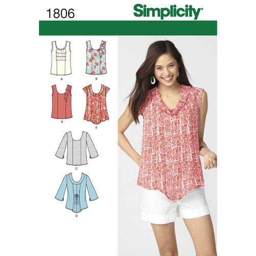 Simplicity Pattern 1806 Misses' Tops