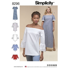 Simplicity Pattern 8296 Misses'/Women's Dress and Tops
