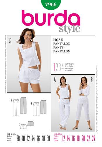 Burda Style Pattern 7966 Pants