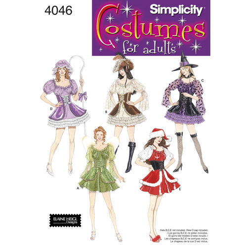 Simplicity Pattern 4046 Misses' Costumes