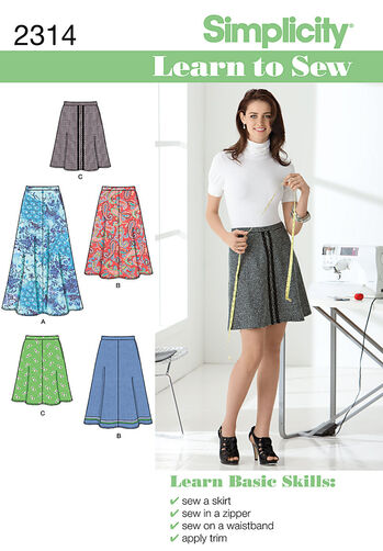 Simplicity Pattern 2314 Misses' Skirts