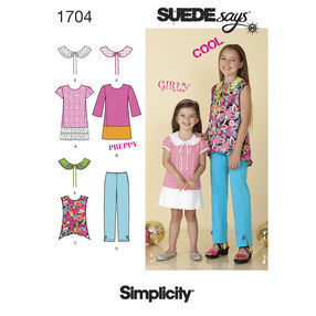 Simplicity Pattern 1704 Child's and Girl's Separates SUEDEsays Collection