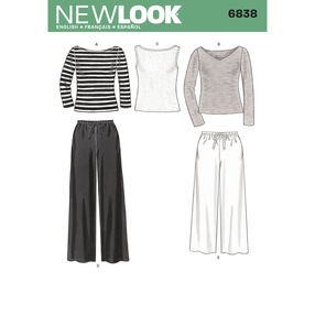 New Look Pattern 6838 Misses Separates