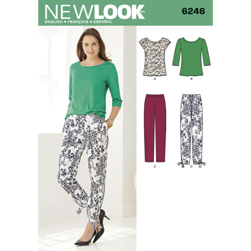 New Look Pattern 6246 Misses' Tapered Ankle Pant and Knit Top