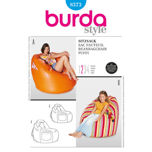 Burda Style Pattern 8373 Beanbag chair