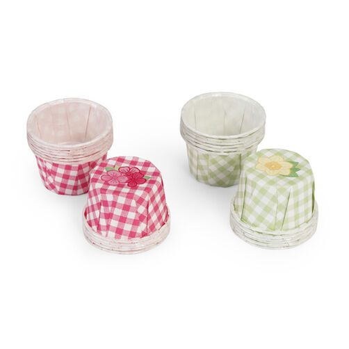 Pastel Gingham Favor Cups _48-10002