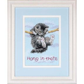 Hang on Kitty, Counted Cross Stitch_16734
