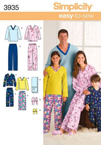 Child's, Teens' & Adults' Sleepwear