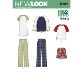 New Look Pattern 6404 Misses' and Men's Separates