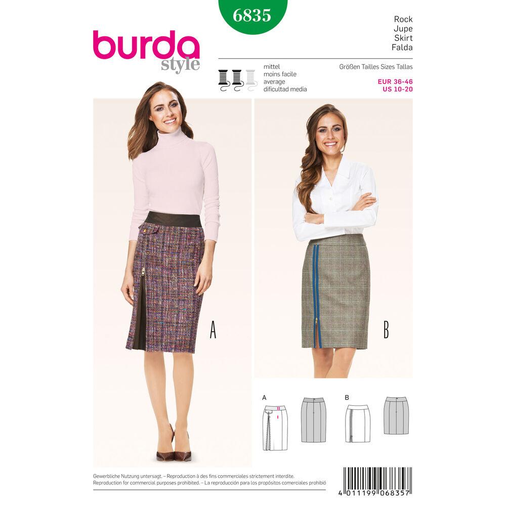 Выкройка юбки burda