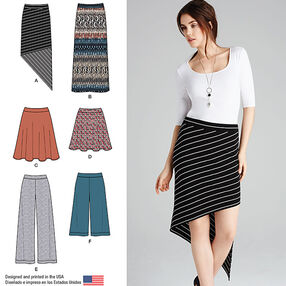 Misses' Knit Skirts and Pants