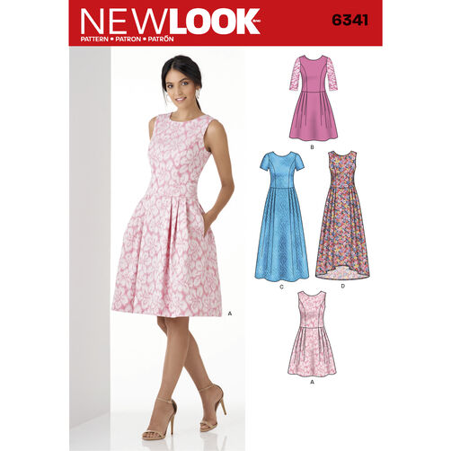 New Look Pattern 6341 Misses' Dress in Three Lengths