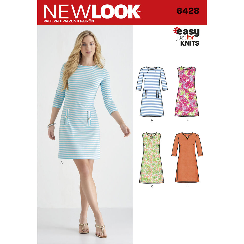 Pattern 6428 Misses Knit Dresses