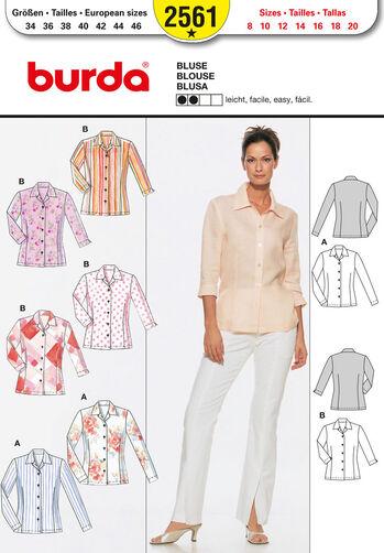 Burda Style Pattern 2561 Blouse