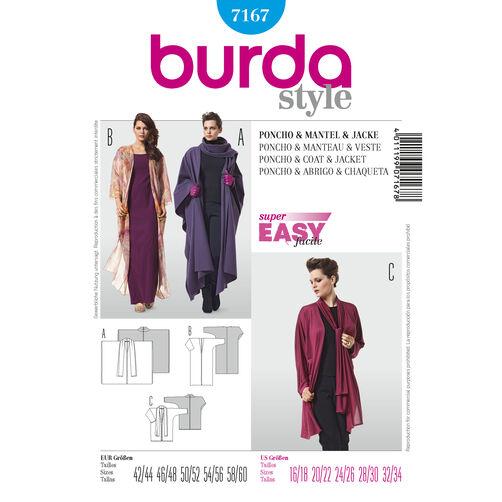 Burda Style Pattern 7167 Poncho & Coat & Jacket