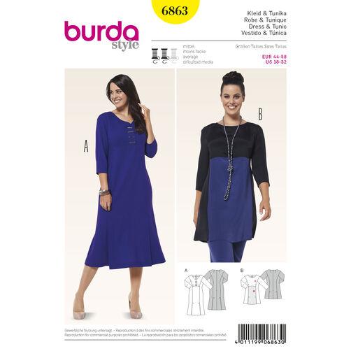 Burda Style Pattern 6863 Plus to Size 60