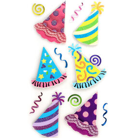 Bright Party Hat Stickers_50-50565