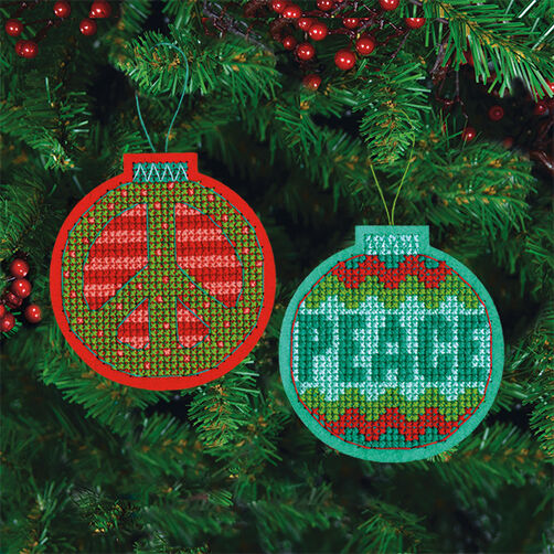 Jolly Peace Ornaments in Counted Cross Stitch_72-08239