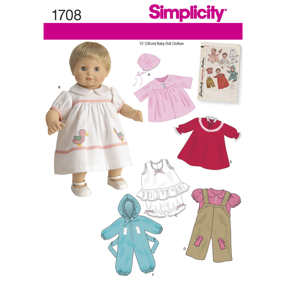 Inch Baby Doll Clothes Patterns Free: S vintage mccalls sewing ...